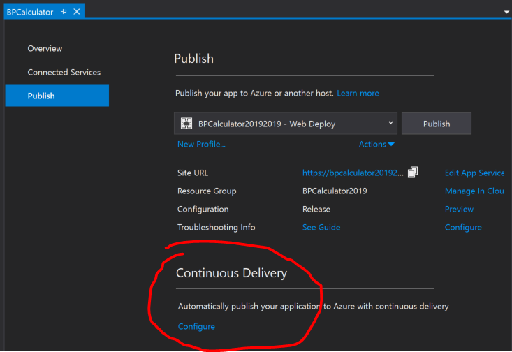 Configure Continuous Delivery image